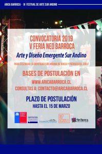 """""""VI Festival de Arte Sur Andino Arica Barroca"""" Fomento a la Creación nativa – Convocatorias 2019"""