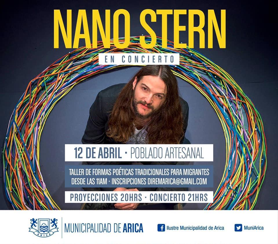 Hoy 12 Abril. Nano Stern regresa a Arica