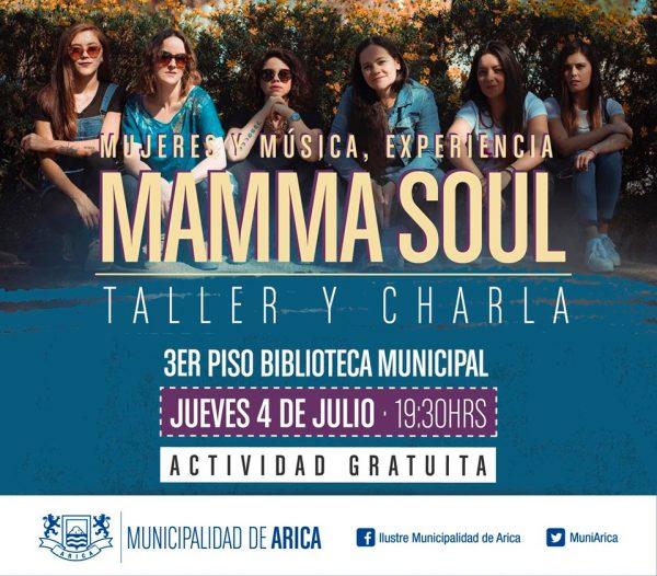 MAMMA SOUL, taller y charla en Arica