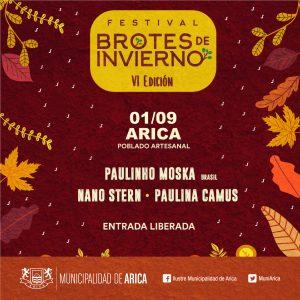 """La sexta versión Festival Nacional """"Brotes de Invierno"""" Llega al Poblado Artesanal de Arica"""