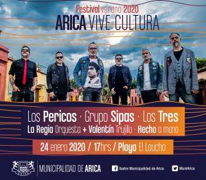 Municipalidad de Arica invita a la segunda versión del  «Festival  Arica Vive Cultura 2020»