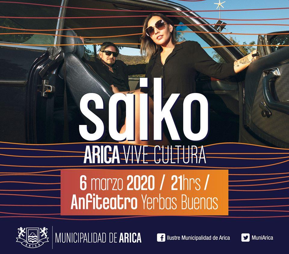 Arica Vive Cultura regresa este viernes junto a la banda Saiko