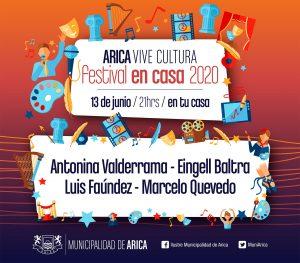 Sexta edición del «Arica Vive Cultura» se vivirá nuevamente en línea